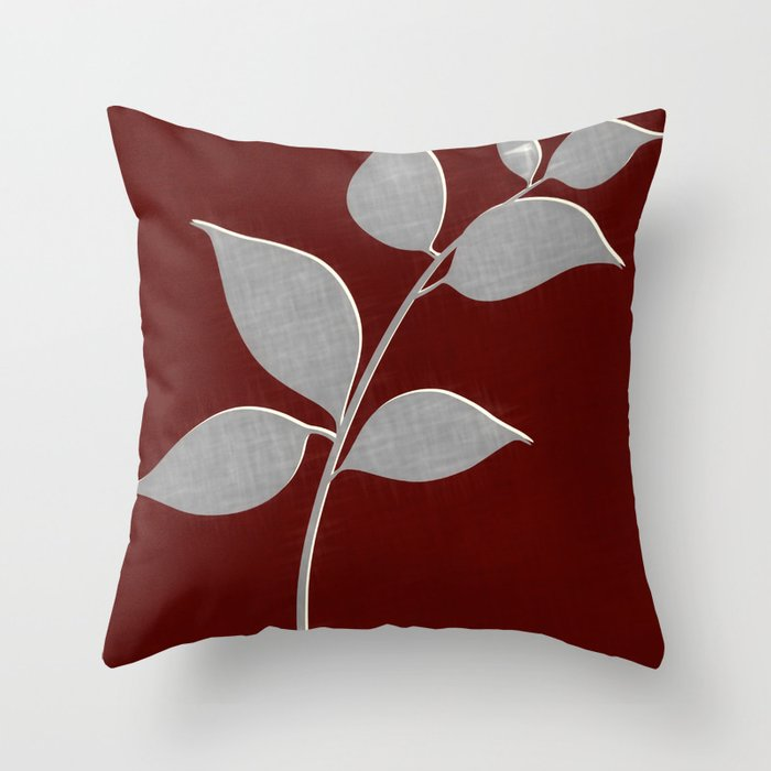 Throw Pillows Girly : Red and Gray Throw Pillow by Jacqueline Rankin Society6