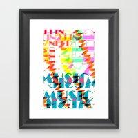 NEEDMusic Framed Art Print