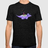 Trick-ceratops! Mens Fitted Tee Tri-Black SMALL