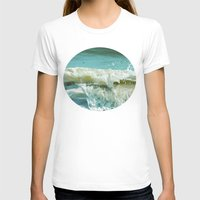 Wave Womens Fitted Tee White SMALL