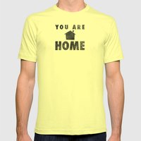 You Are Home Mens Fitted Tee Lemon SMALL