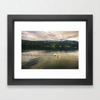Der See Framed Art Print