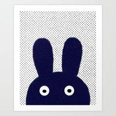 Blue Monster Art Print