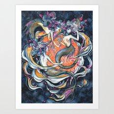 Mermaids in Space Art Print