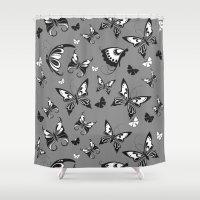Butterflies in Flight Shower Curtain