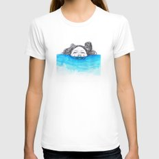Immersion Womens Fitted Tee White SMALL