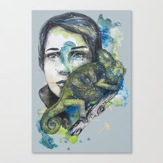 cameleon by carographic Canvas Print