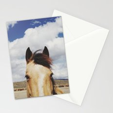 Cloudy Horse Head Stationery Cards