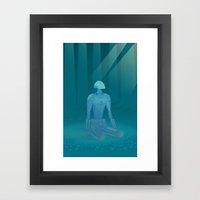 Recharging Framed Art Print