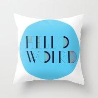Hello World   Comp Sci S… Throw Pillow