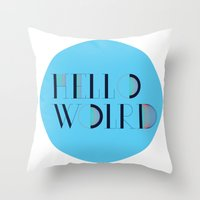 Hello World | Comp Sci S… Throw Pillow