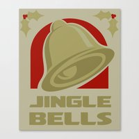 Jingle Bell - Gold Canvas Print