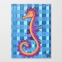hippocampe 2x Canvas Print