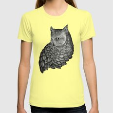 A Friend for Forsythe in Black Womens Fitted Tee Lemon SMALL