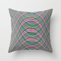 pinkandgreencrochet Throw Pillow