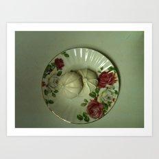 Tea with Grandmother Art Print