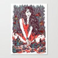 Three Eyed Girl Canvas Print