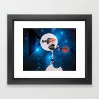 Space Flight Framed Art Print