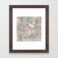 Hummingbird's Garden: Amongst the wild flowers Framed Art Print