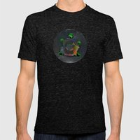 Shellous? Mens Fitted Tee Tri-Black SMALL
