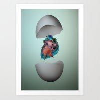 First-love Moment  Art Print