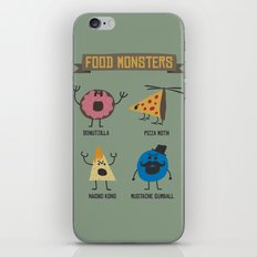 Food Monsters iPhone & iPod Skin