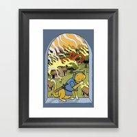 Sir Mittens Fails The Vi… Framed Art Print