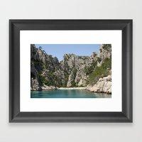 french alcove beach Framed Art Print