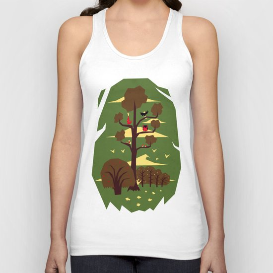 R is for Rabbit Unisex Tank Top