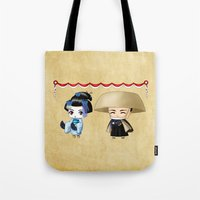 Japanese Chibis Tote Bag