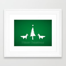 Christmas foxes Framed Art Print