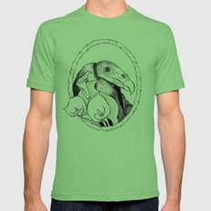 Mr. Vulture Mens Fitted Tee Grass SMALL