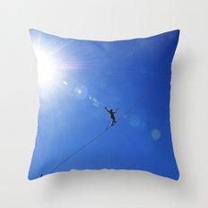 Highlining California Throw Pillow