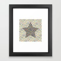 star Framed Art Print