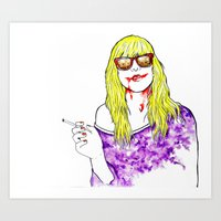 let me tell you how i got these sc-- Art Print