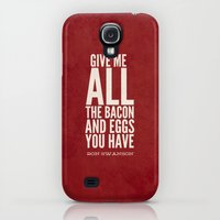 Galaxy S4 Cases featuring Bacon and Eggs - Ron Swanson - Parks and Recreation by Sandra Amstutz