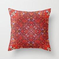Internal Kaleidoscopic Daze-2 Throw Pillow