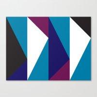 Blue Purple Triangle Pat… Canvas Print