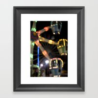 Seaside Boardwalk Lights Framed Art Print