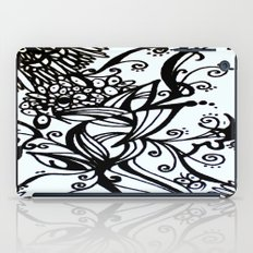 Forget Me Not Black & White  iPad Case