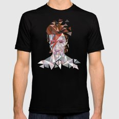 Bowie Stardust Mens Fitted Tee Black SMALL