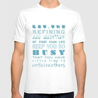Let The Refining And Imp… Mens Fitted Tee White SMALL