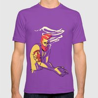 MICHAEL Mens Fitted Tee Ultraviolet SMALL