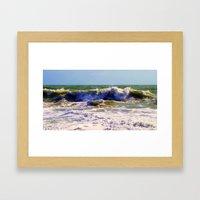 Ocean Power Framed Art Print