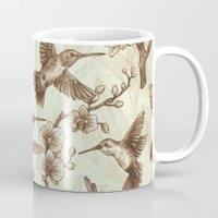 Sepia Hummingbird Patter… Mug