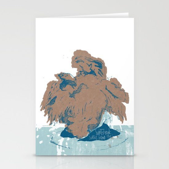 Surtseyan Volcanic Eruption Stationery Card