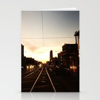 San Francisco Muni Njudah Sunset Silhouette  Stationery Cards