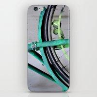 Green bike iPhone & iPod Skin