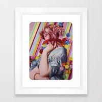 Sacchrine | Collage Framed Art Print