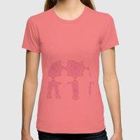 Animals Illustration - Purple Damask elephant Womens Fitted Tee Pomegranate SMALL
